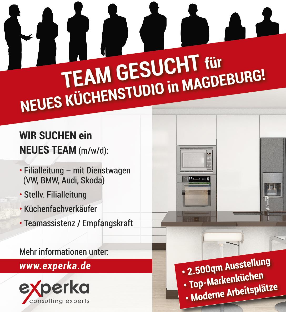 Experka Anzeige Team Küchenfachberater Kuechenstudio Magdeburg